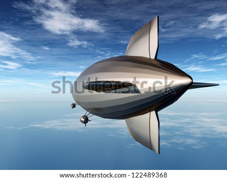 Airship Computer generated 3D illustration