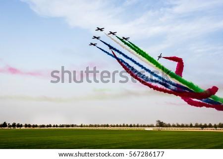 Airshow at Ghantoot -Dubai Abudhabhi Road at Polo club
