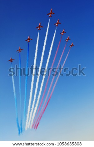 Airshow in the sky over Malta