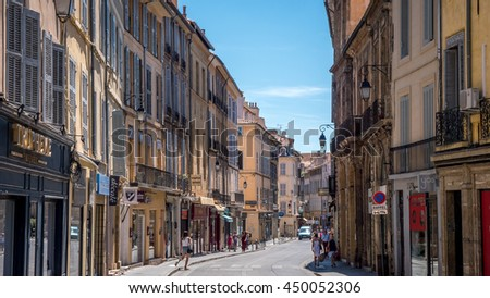 AIX EN PROVENCE, FRANCE - JULY 2016: French City Aix en Provence #450052306