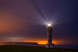 Ajo Lighthouse in Ajo village by the Cantabrian Sea in Cantabria Autonomous Community of Spain, Europe