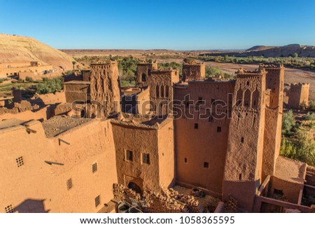 Ajt Bin Haddu - Morocco's most popular tourist attraction. A place where many Hollywood movies were created Stock fotó ©
