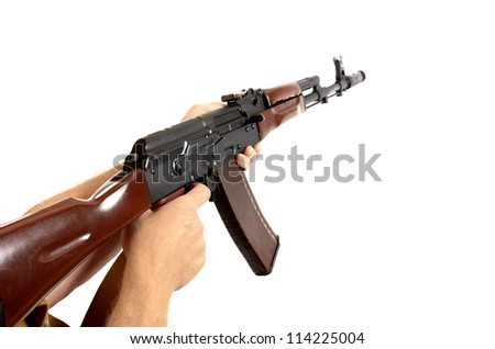AK-47 machine gun isolated