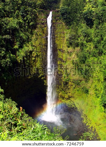 Akaka Falls on the big island of Hawaii