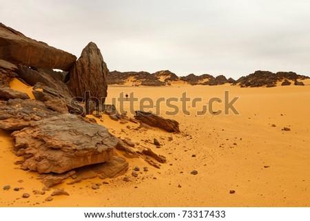Akakus (Acacus) Mountains, Sahara, Libya - Bizarre sandstone rock formations