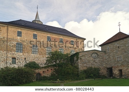 Akershus Fortress in Oslo Norway.