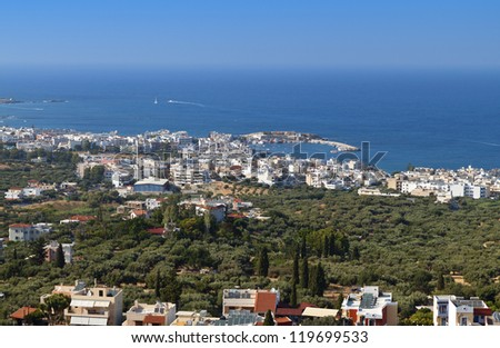 Akrotiri and Malia riviera near Heraklio city at Crete island in Greece
