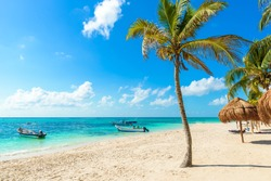 Akumal beach - paradise bay  Beach in Quintana Roo, Mexico - caribbean coast - Riviera Maya