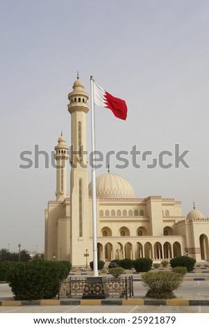 Al-Fateh Grand Mosque in Bahrain - stock photo