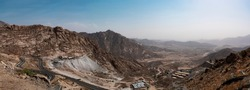 Al Hada Mountains near Taif, dangerous Al Hada road mountain pass, Western Saudi Arabia