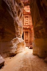 Al Khazneh or The Treasury at Petra, Jordan
