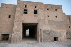 Al Uqair Fort abandoned old building in Eastern Saudi Arabia