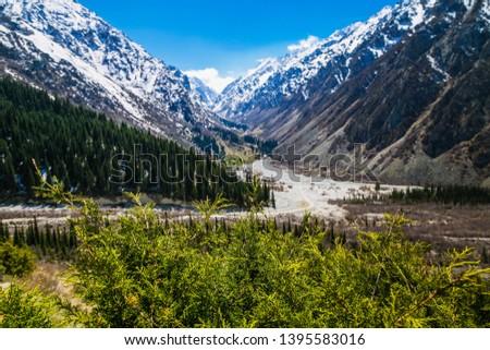 Ala Archa national park, Kyrgyzstan Foto stock ©