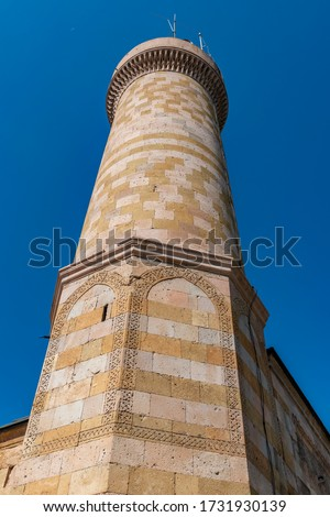Alaaddin ( Alaeddin ) mosque is in the historical castle of Niğde The mosque was constructed in 1223 during the reign of Keyqubad I (r.1220–1237) of Sultanate of Rum  Photo stock ©