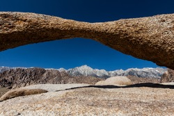 Alabama Hills Area in the sierra of Death Valley National Park, California, USA