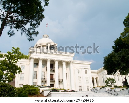 Alabama State Capitol Building - stock photo