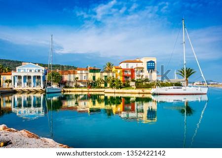 Alacati Town coast view in Cesme Town. Alacati is populer tourist destination in Turkey