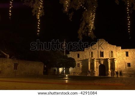 Alamo mission, national historic landmark, in San Antonio, Texas