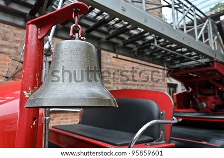 Alarm bell on old fire truck