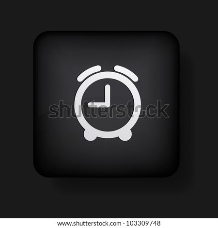 alarm clock icon on black