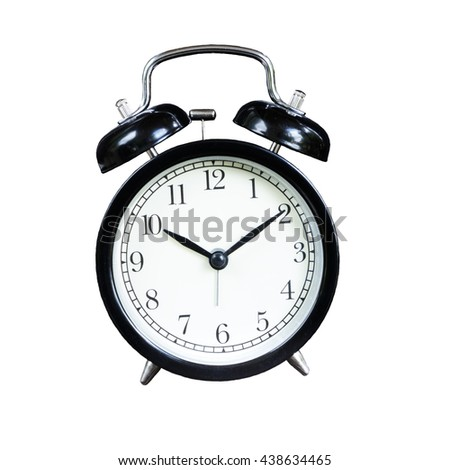 Alarm clock isolated on white background.  Item Object
