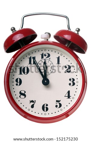 alarm clock isolated over a white background / clock