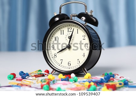 Alarm clock on a light background