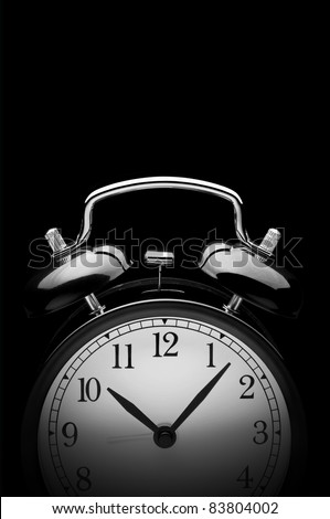 Alarm Clock on black
