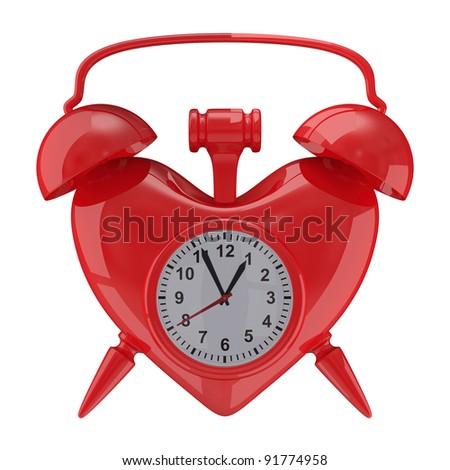 Alarm clock on white background. Isolated 3D image