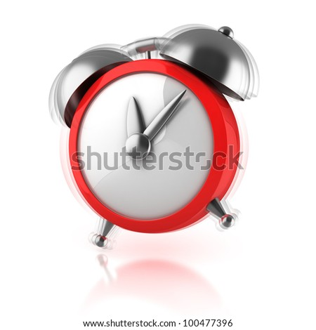 alarm clock ringing 3d illustration