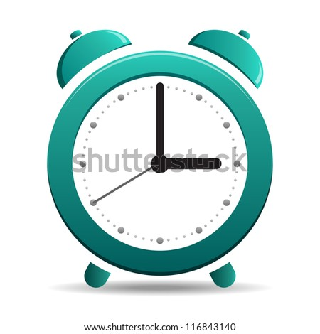 Alarm Clock simple icon isolated on white background
