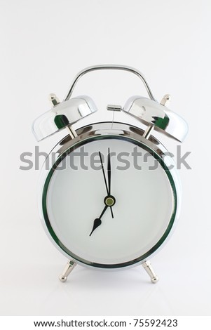 alarm clock without numeral isolated on grey