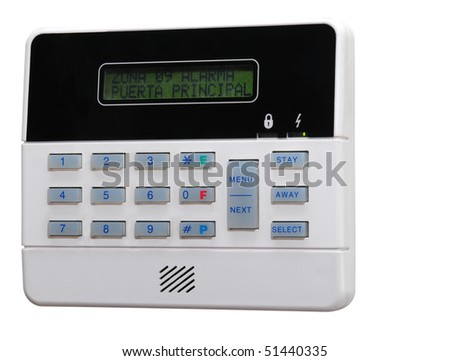 Alarm panel. Isolated