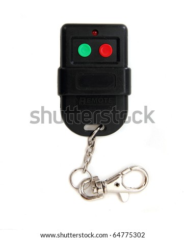 Alarm remote control isolated on white