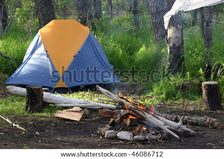 Alaska campsite
