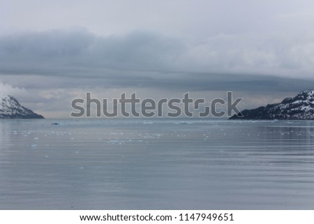 Alaska mountains with cloud and water #1147949651
