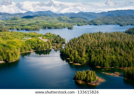 Alaska Prince of Wales island aerial view from float plane