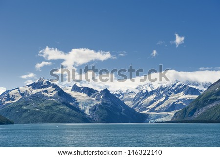 Alaska prince william sound glacier cruise huge panorama view