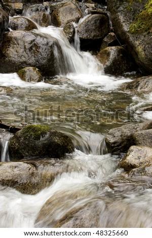 Alaska rain-forest waterfall