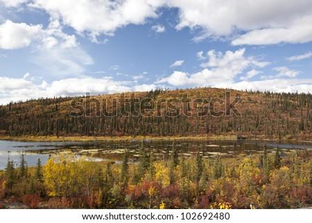 Alaska Range in Denali - stock photo