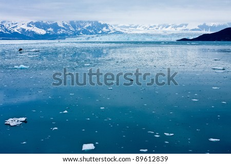 Alaska's Hubbard Glacier - stock photo