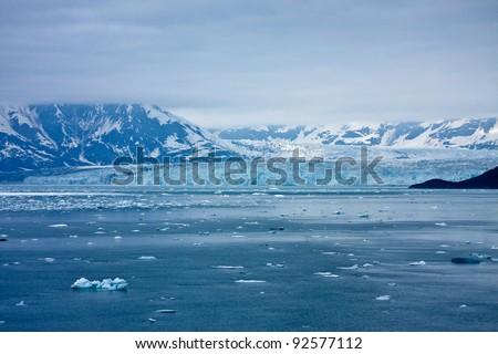 Alaska's Hubbard Glacier - stock photo