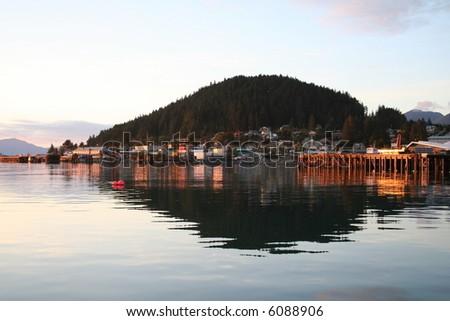 Alaskan Island Sunset