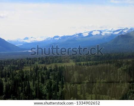 Alaskan Wilderness from Airplane #1334902652