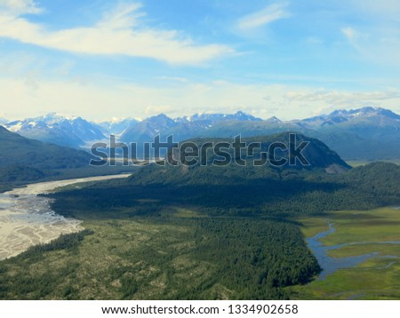 Alaskan Wilderness from Airplane #1334902658