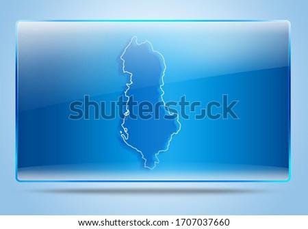 Albania, Albania Map, Albania Glossy Map Background, Map Background, Glossy Icon, High tech, Albania Glossy Banner