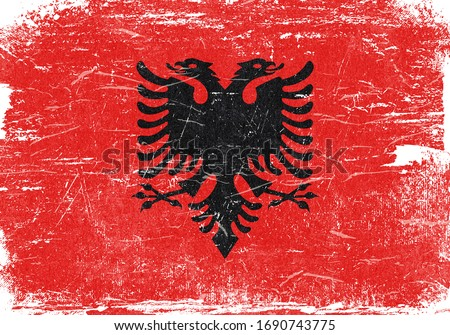 Albania flag, Albania Flag Background, Grunge Flag Background, Vintage Flag Background, Banner, Albania Wallpaper,