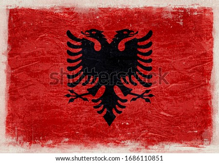 Albania Grunge Flag,  Vintage Albania Grunge Flag, Albania Flag Background
