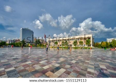 Albania, Tirana - the square of the national hero Albani Skanderbeg