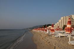 albena beach daybreak Bulgaria